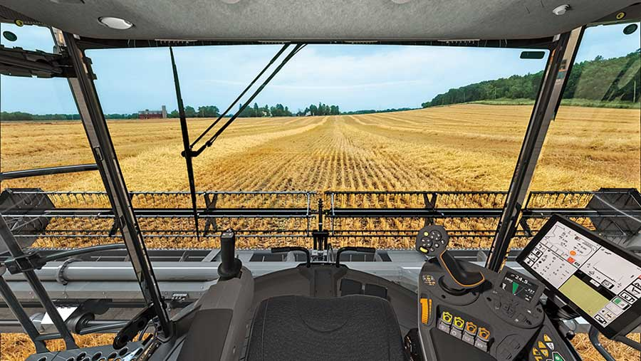 The Fendt VisionCab has a viewable window area of 5.75 m² and an 180° panoramic view